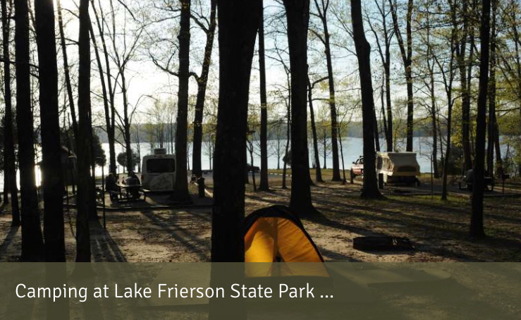 Camping at Lake Frierson State  Park